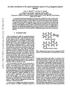 Ab initio calculations of the optical absorption spectra of C60 ...