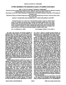 Ab initio calculations of the photoelectron spectra of transition metal ...