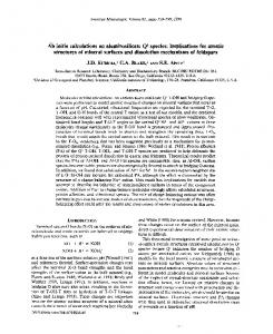 Ab initio calculations on aluminosilicate Q3 species - Mineralogical ...