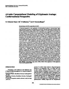 Ab initio Computational Modeling of Glyphosate Analogs
