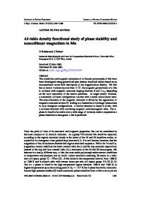 Ab initio density functional study of phase stability