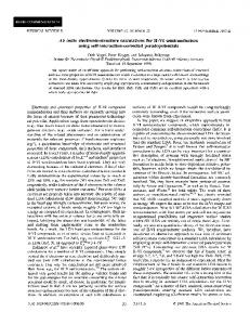 Ab initio electronic-structure calculations for II-VI semiconductors using