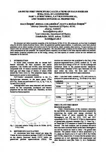 AB-INITIO FIRST PRINCIPLES CALCULATIONS ON HALF-HEUSLER ...