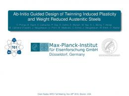 Ab-Initio Guided Design of Twinning Induced