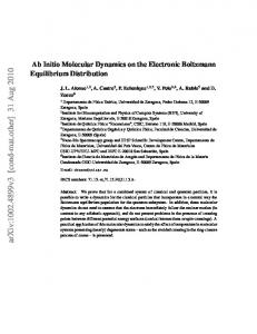 Ab Initio Molecular Dynamics on the Electronic Boltzmann Equilibrium