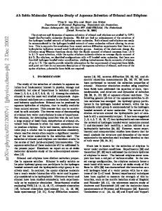 Ab Initio Molecular Dynamics Study of Aqueous Solvation of Ethanol