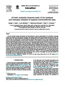 Ab initio molecular dynamics study of the interlayer and ... - CORE