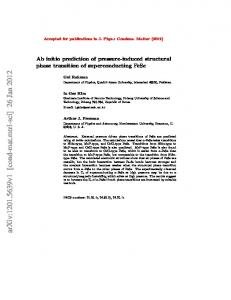 Ab initio prediction of pressure-induced structural phase transition of ...