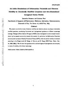 Ab-Initio Simulations of Deformation Potentials and Electron Mobility in ...