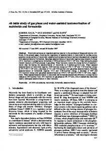 Ab initio study of gas phase and water-assisted ... - CiteSeerX