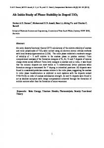 Ab Initio Study of Phase Stability in Doped TiO2 - arXiv