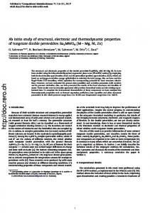 Ab initio study of structural, electronic and thermodynamic properties
