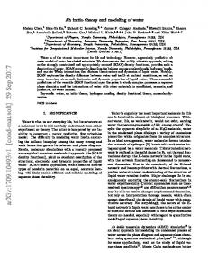 Ab initio theory and modeling of water