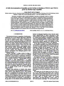 Ab initio thermodynamics of deposition growth: Surface terminations ...