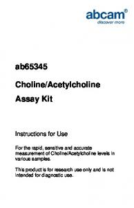 ab65345 Choline/Acetylcholine Assay Kit