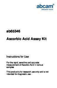 ab65346 Ascorbic Acid Assay Kit - Abcam