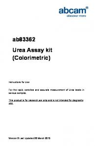 ab83362 Urea Assay kit (Colorimetric)