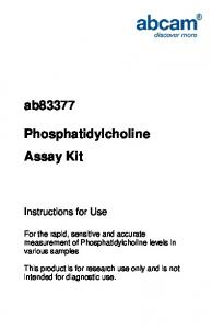 ab83377 Phosphatidylcholine Assay Kit