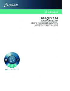 Abaqus Analysis User's Guide, vol5