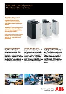 ABB motion control products - MotiFlex e100 servo drives