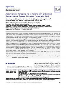 Abdominal and Pericardial Fat in Patients with ... - KoreaMed Synapse