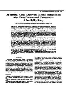 Abdominal Aortic Aneurysm Volume Measurement