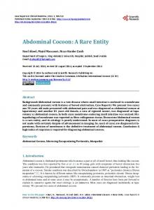 Abdominal Cocoon - Scientific Research Publishing