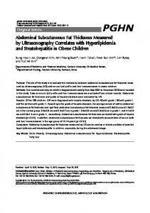 Abdominal Subcutaneous Fat Thickness ... - KoreaMed Synapse