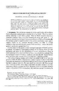 abelian subgroups of topological groups - American Mathematical ...