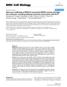 Aberrant trafficking of NSCLC-associated EGFR mutants through the ...