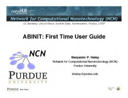 ABINIT: First Time User Guide - nanoHUB
