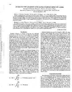 AbInitio SCF MO calculations on the reaction of ...