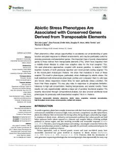 Abiotic Stress Phenotypes Are Associated with ... - Semantic Scholar