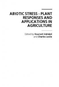 abiotic stress - plant responses and applications in ...