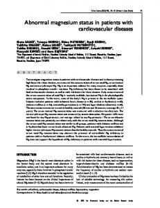 Abnormal magnesium status in patients with ... - Clinical Science