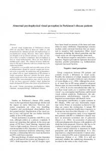 Abnormal psychophysical visual perception in ... - Acta Neurologica
