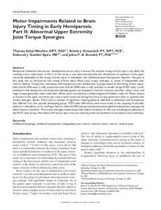 Abnormal Upper Extremity Joint Torque Synergies - Semantic Scholar
