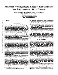 Abnormal Working Hours: Effect of Rapid Releases and ... - arXiv