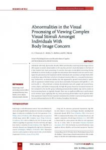 Abnormalities in the Visual Processing of Viewing Complex Visual ...