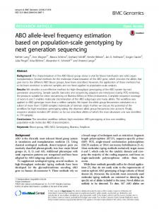 ABO allele-level frequency estimation based on population ... - Core