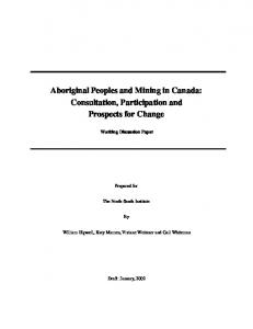 Aboriginal Peoples and Mining in Canada - Christian Aboriginal ...