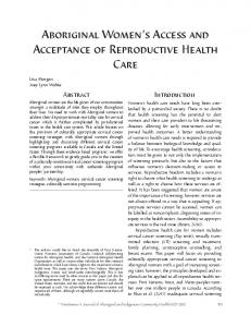 Aboriginal Women's Access and Acceptance of ... - Pimatisiwin