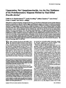 abortus Brucella Response Elicited by Heat-Killed the Key Mediators ...