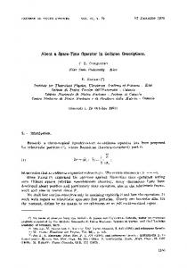 About a space-time operator in collision descriptions - UniBG
