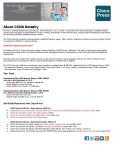 About CCNA Security - The Cisco Learning Network