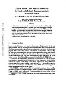 About direct Dark Matter detection in Next-to-Minimal Supersymmetric ...