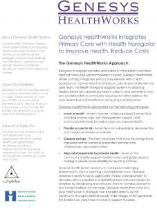 About Genesys Health System - Institute for Healthcare Improvement