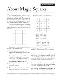 About Magic Squares - Physics Central