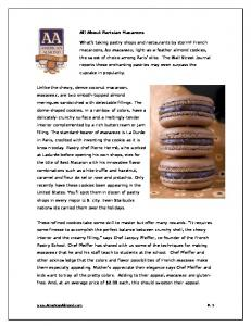 About Parisian Macarons - American Almond Products Company