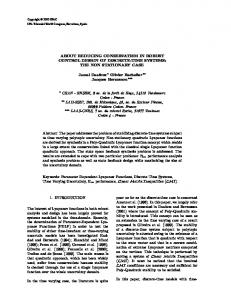 about reducing conservatism in robust control design of discrete-time